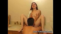 Fucking sweet teen in bathroom
