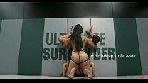 Awesome lesbian babes in bikini fight