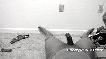 Black Teen Delivers Split Dick Riding Reverse Cowgirl POV thumbnail