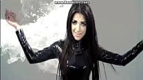 Nadia Ali wearing latex