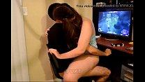 Sexy pigtail teen ridding her boyfriend