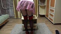 A milf in early pregnancy shows a striptease an... Thumbnail