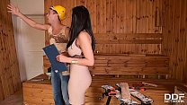 Handyman licks & bangs leggy babe Kira Queen's ...'s Thumb