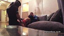 Fake cop joins couple in indoor sex pornhub video