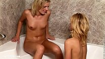 Screenshot Shower Stimu lation sensual lesbian scene by Sap...