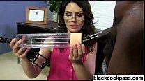 White girl meets two big black monsterdicks