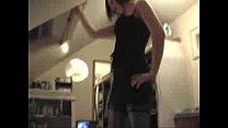 Cute girlfriend  stripping before sucking cock re sucking cock
