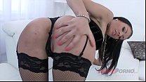Interracial anal orgy makes kinky slut Kitana Lure cum during DAP action