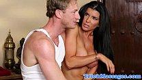 Trick masseur seduces hot busty client thumb