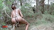 Petite Tribal Babe Bianka Blacka Banging White Cock In The Woods thumbnail