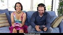 CFNMTeens - Gamer Girl Humiliates Loser Friend