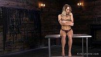 Blonde stripps underwear and fucks machine - Download mp4 XXX porn videos