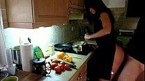 12923 Cogiendo en la cocina despues de trabajar preview