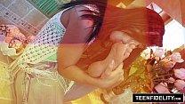 TEENFIDELITY - Aidra Fox Takes A Facial and Creampie