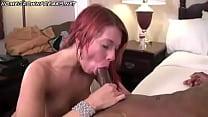 Hot Black on White Interracial Redhead Throat Action Anal صورة