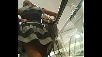 Nice girl escalator upskirt