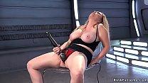 Natural big tits blonde fucks machine doggy pornhub video