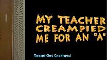TGC Lange Junge Schwarze Teen Bekommt Rahmspinat Von Der Lehrerin
