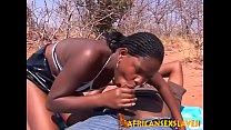 Horny ebony beauty bouncing hard on a dick outdoors pornhub video