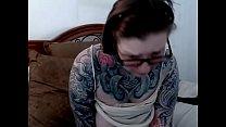 Tight big boobs tattoo woman on webcam [문신 Tattoo]
