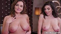 Lesbian triangle - Natasha Nice, Darcie Dolce a...
