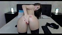 Camgirl zeigt ihren geilen arsch live vor der kamera thumbnail