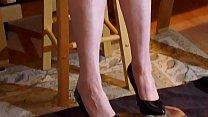 Black Patent Stiletto Shoe Job 01
