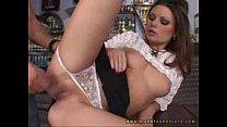 The Hot waitress - horny euro slut