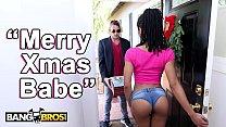 BANGBROS - Black Pornstar Kira Noir Takes Anal From Her Boyfriend Tyler Nixon On Christmas pornhub video