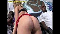 Blonde Girl Has to Service Black  Men pornhub video