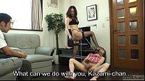 Japanese dominatrix brings hell to crossdresser Subtitled [격렬한 익스트림 extreme]