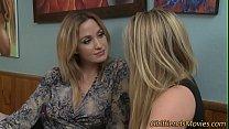 Blonde teen eats milf preview image