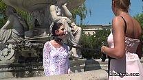 สาวฝรั่งมาเที่ยวน้ำพุเสร็จแล้วเจอหนุ่มหล่อเลยชวนจัดเย็ดกระแทกหีกันเสียวเงี่ยนกระจายเด็ดเหลือเกิน