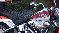Maya Rati, pleasures herself on a Harley Davidson