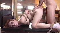 Bad neighbor anal fucks babe in bondage