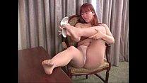 Jan in her sheer tan pantyhose