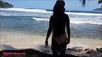 Heher deep gets caught giving deepthro thropie outdoor  beach by tourists - 9Club.Top