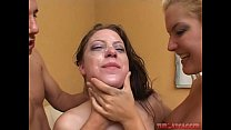 Barbara Summer and Christie Lee get their faces fucked hard. Extreme deep throat gagging.'s Thumb