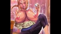 [HENTAI] TSUNADE of NARUTO showing her huge breasts