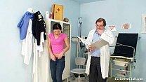 Gyno doctor speculum examines Sandra at kinky gyno clinic