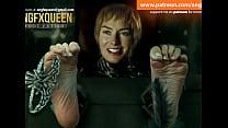 Cersei Lannister feet soles tickling Lena Headey thumb