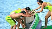 Descuidos Delia sabrosa en La Isla Nalgonas reto en agua » hot women masterbating thumbnail