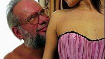 Old man enjoy's Lyen's crotchless panties