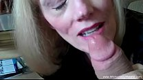 Spunky Grandma Sucks and Strokes Dick