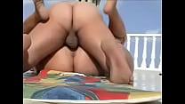 Busty Big Ass Turk Memnune Demiröz gets a missionary creampie preview image