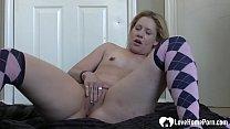 Amazing blonde chick loves to masturbate passio...
