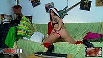 Little brunette masturbating alone on her webcam pornhub video