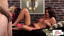 Undressed British voyeur teasing during JOI