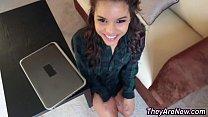 Latina teen spunk covered
