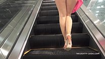 No panties shopping public flashing upskirt thumb